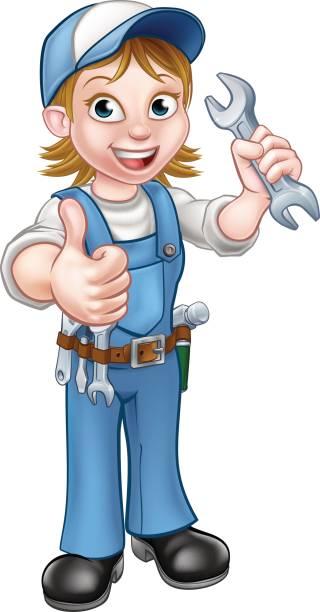Girl plumber